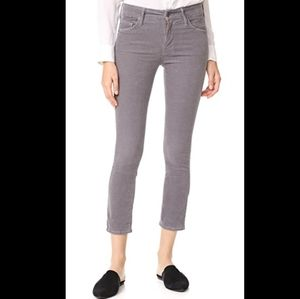 Mother The Looker Crop Hopscotch Corduroy Pants